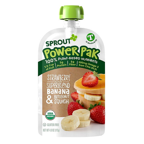 Sprouts Pak Strawberry, Banana and Butter Squash 3.5 oz