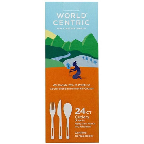 World Centric Fork Corn Starch 24 Count