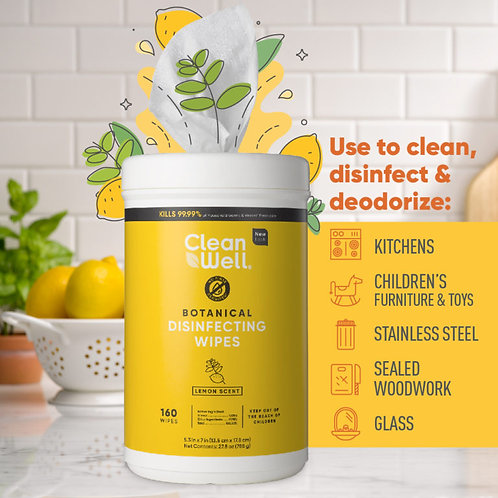 Clean Well Disfecting Wipes 35 PC