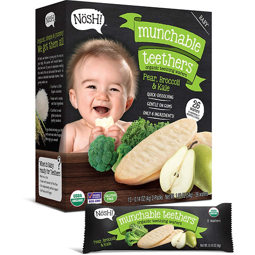 Nosh! Munchables Pear, Broccoli & Kale