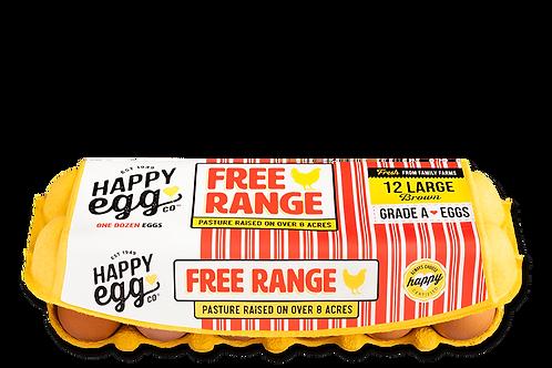 Happy Eggs Free Range 12 Large