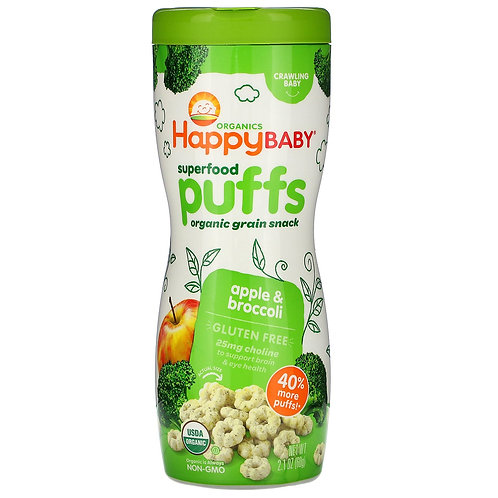 Happy Baby Puffs Apple and Broccoli 2.1oz