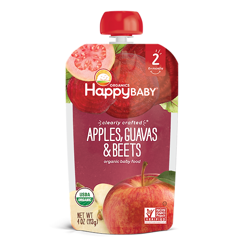 Happy Baby Apple, Guava and Beets 4oz