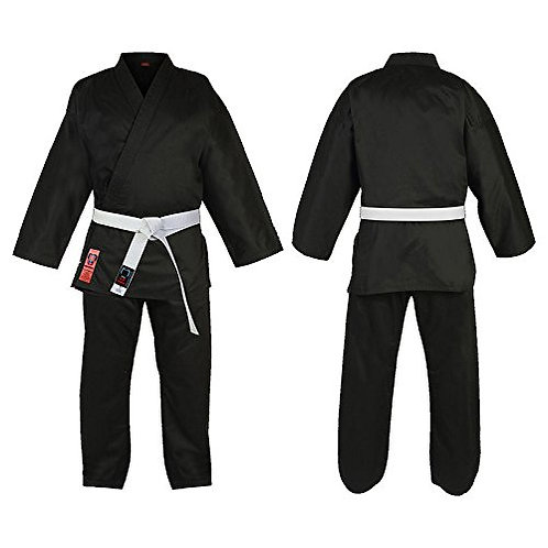 Premium black Karate Suit with FREE white belt