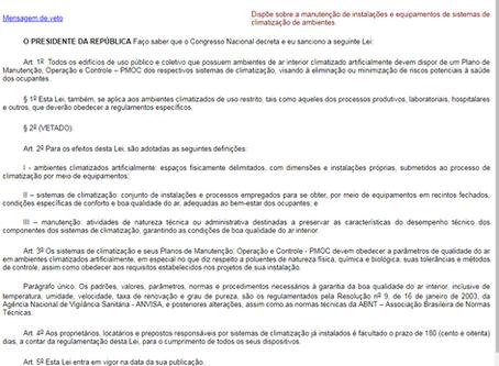 LEI FEDERAL 13.589/18 - OU LEI DA PMOC  PARA EQUIPAMENTOS DE CLIMATIZAÇÃO DE AMBIENTES