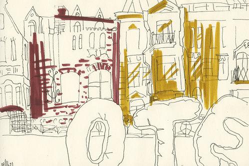 New Holland in Saint-Petersburg - original urban sketch 21297
