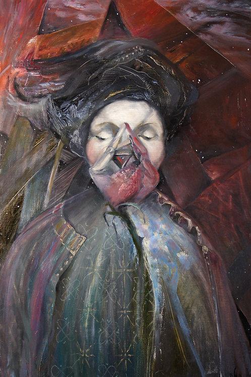 Evening. Goddess - original oil painting