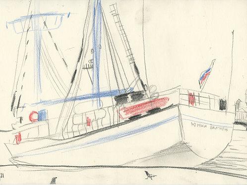 Schmidt Embankment - 5 minute sketch 21245