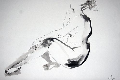 Vika. Nude art №21178 - original figurative sketch