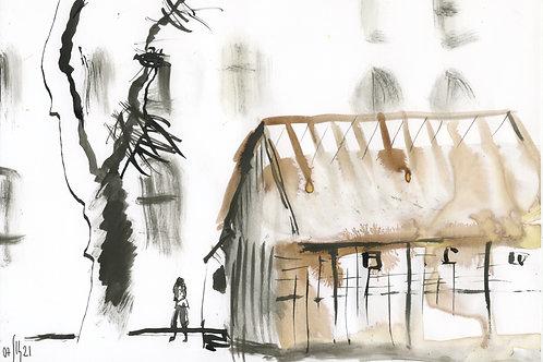 Academic Garden 21268 - urban sketch
