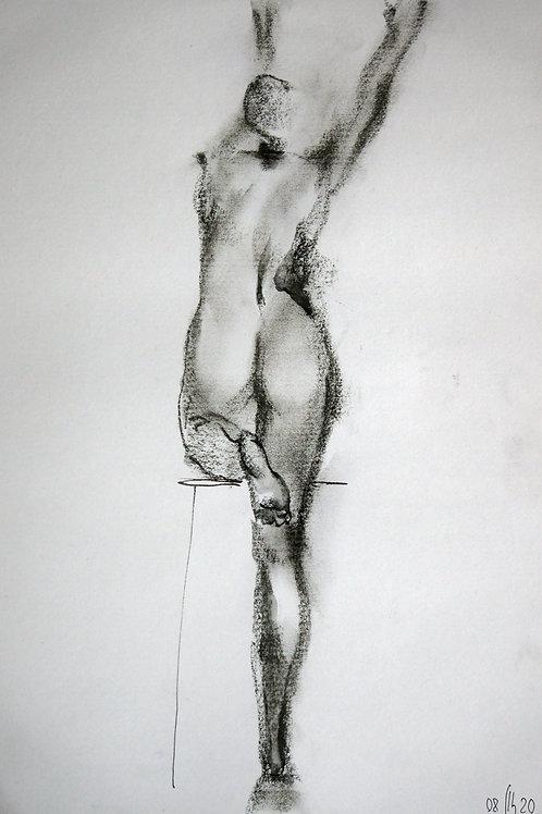 Elena. Nude #20170 female model - original graphic artwork