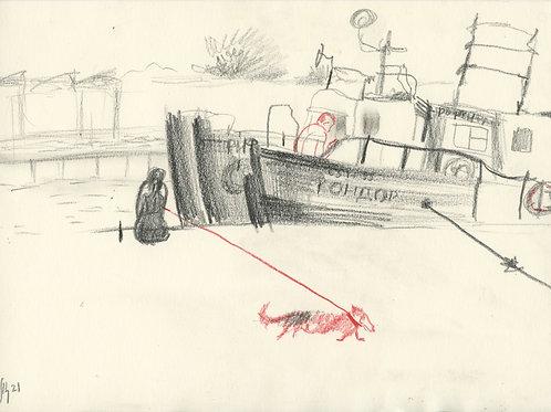 Schmidt Embankment - 10 minute sketch 21244