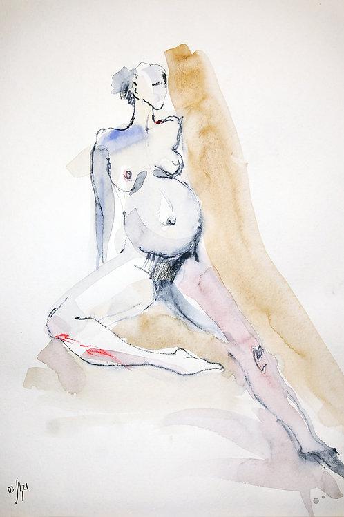 Vika. Nude art #2197 - original graphic art