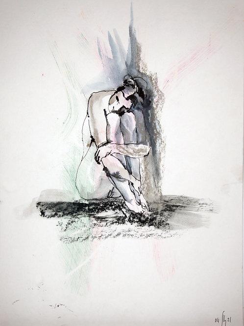 Susanna. Nude art №21137 - original figurative sketch