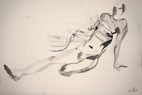 Maxim. Nude art №21168 - original figurative sketch