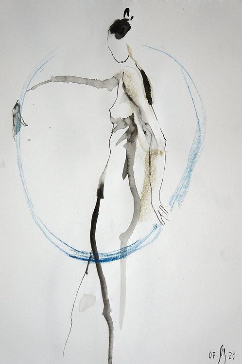 Nastya. Nude №20198 - original female figurative sketch