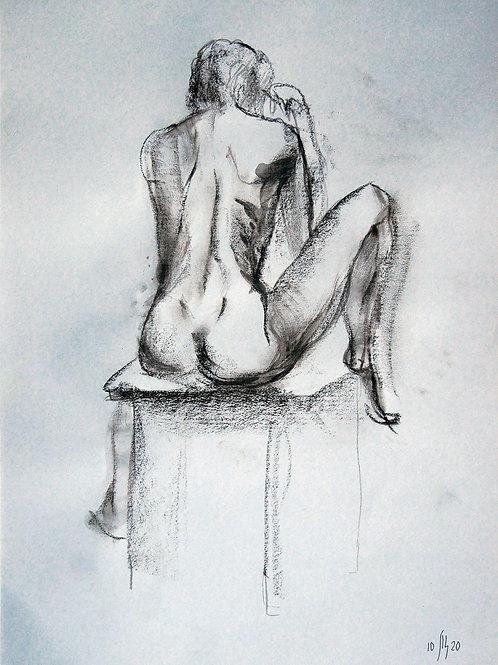 Anna-10/3 (nude) - original figurative sketch