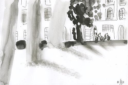 Academic Garden 21273 - urban sketch