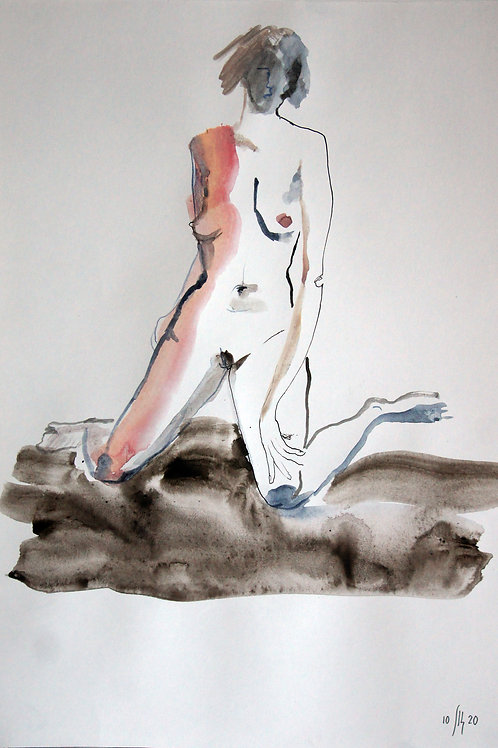 Anna nude female #20239 - original graphic artwork
