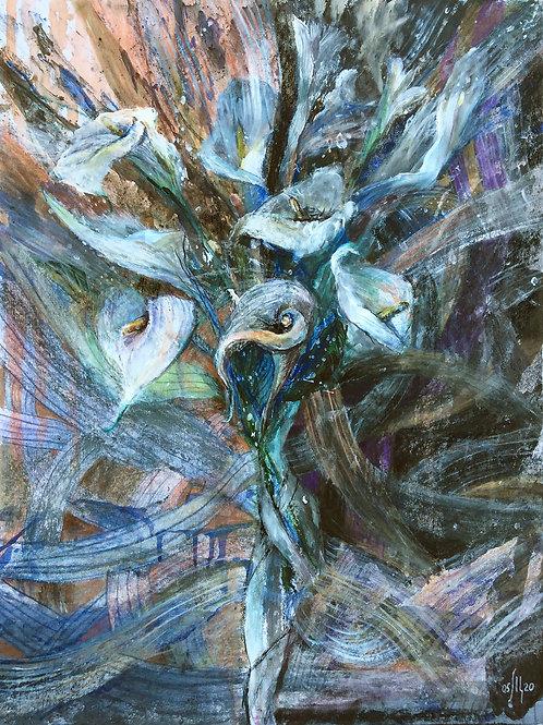 Calla lilies - original acrylic artwork