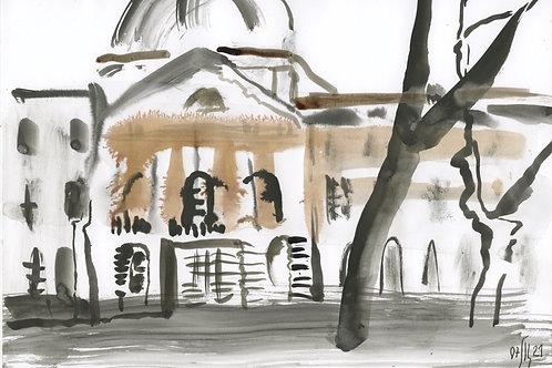 Academic Garden 21269 - urban sketch
