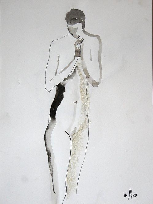 Victoria. Nude model  #20226 - original graphic artwork