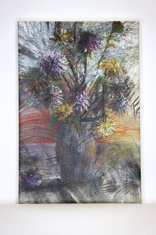 ART PRINT: These are our flowers - aster