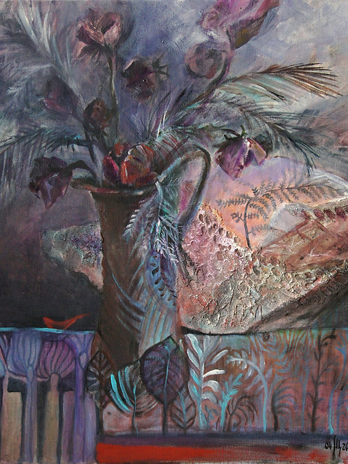 Paleobotany-1 - original acrylic stilllife painting
