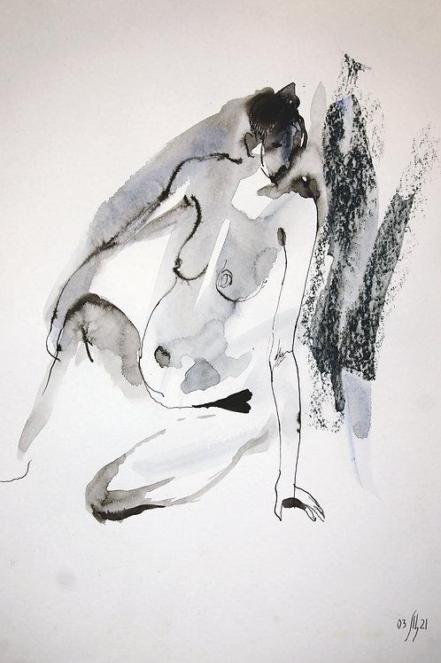 Vika. Nude art №2196 - original artwork