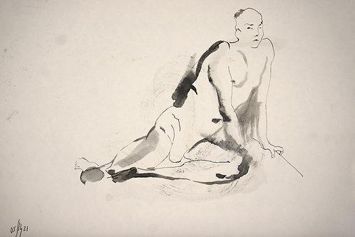 Maxim. Nude art №21166 - original figurative sketch
