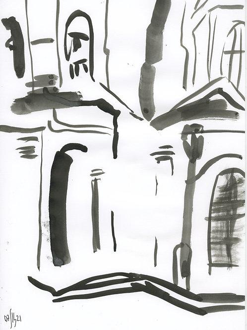 6-7 linia Saint-Petersburg - original urban sketch 21263