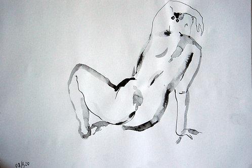 Anna nude female #20143 - original figurative sketch