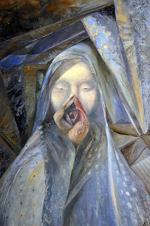 Morning. Goddess - original oil painting