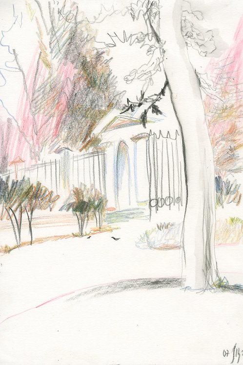 Vasiliy park - 5 minute original urban sketch