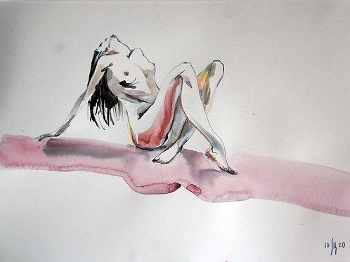 NoName (nude) -original figurative female sketch