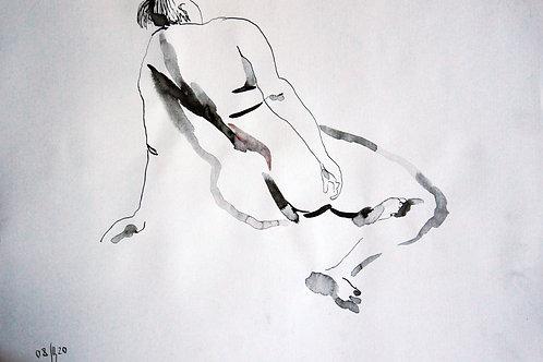 Anna nude female #20154 - original figurative sketch