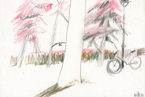 Vasiliy park - 5 minute original urban sketch #2