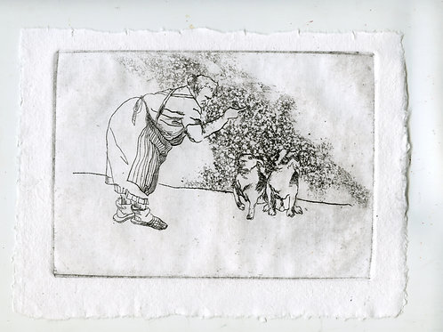 Close to each other #3 - 1 (etching)