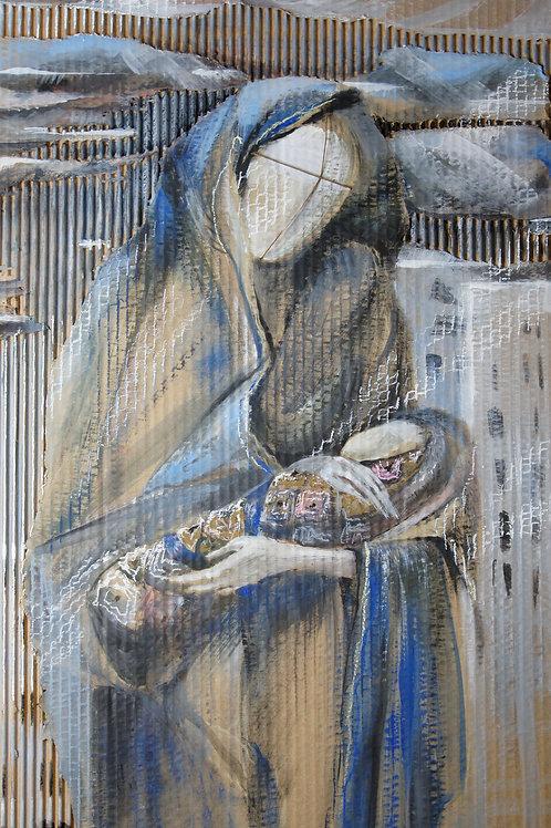 No-name Madonna in blue - original artwork