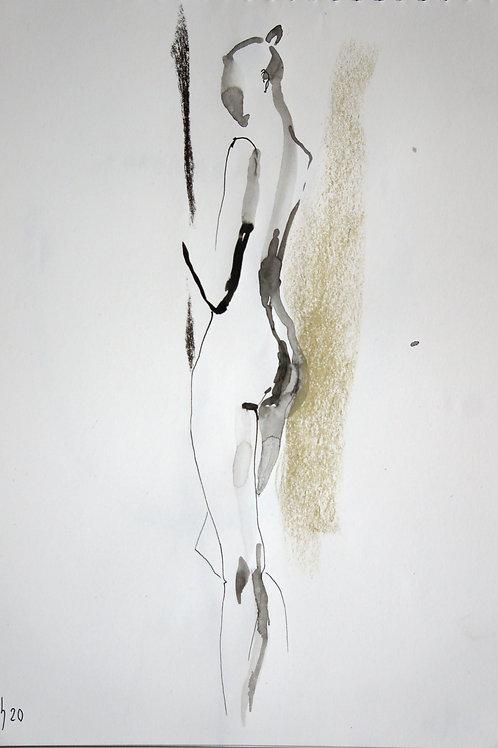 Nastya. Nude №20197 - original female figurative sketch