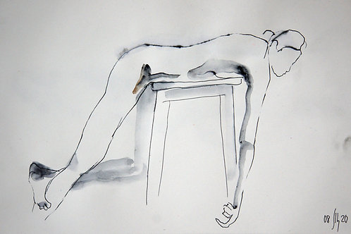 Elena. Nude #20176 female model - original graphic artwork