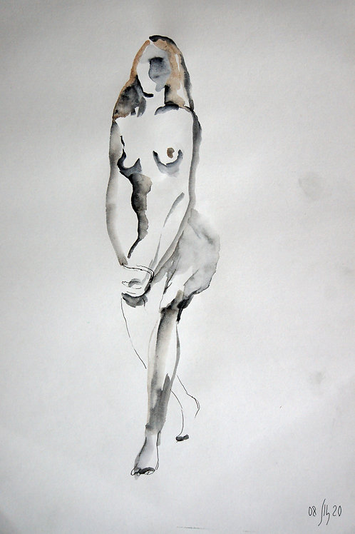Elena. Nude #20171 female model - original graphic artwork