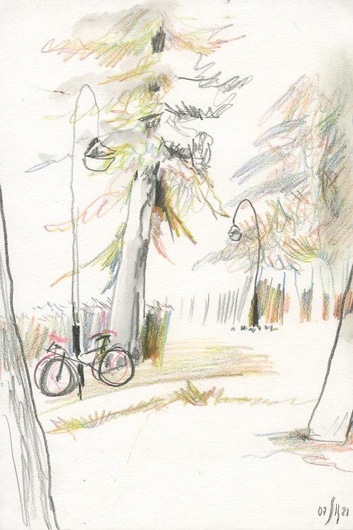 Vasiliy park - 10 minute original urban sketch