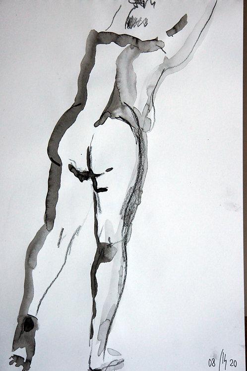 Anna nude female #20149 - original graphic artwork