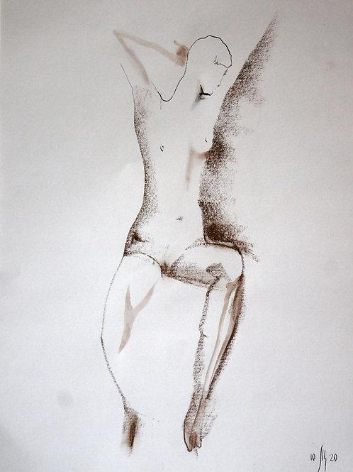 Victoria. Nude model  #20217 - original graphic artwork
