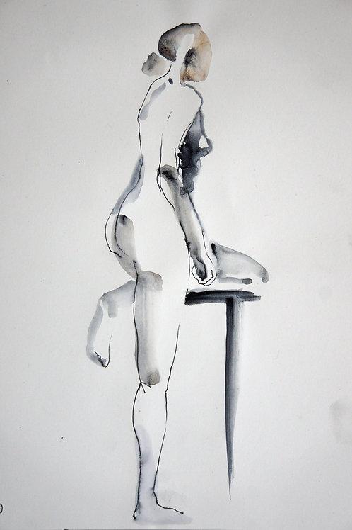 Elena. Nude #20177 female model - original graphic artwork
