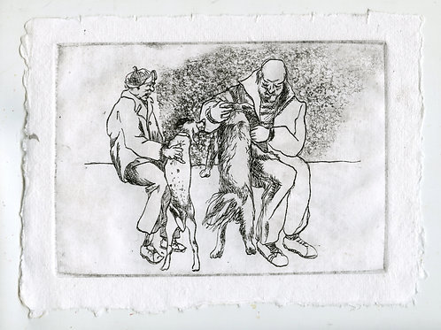 Close to each other #4 - 1 (etching)