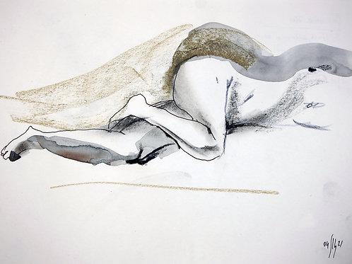 Susanna. Nude art №21143 - original figurative sketch