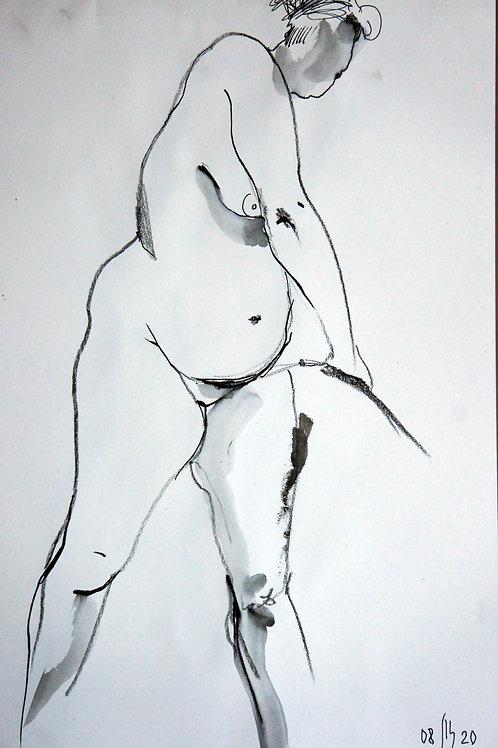 Anna nude female #20148 - original figurative sketch art