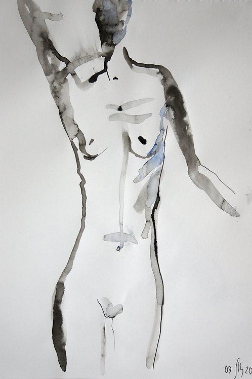 Nastya. Nude №20200 - original figurative sketch